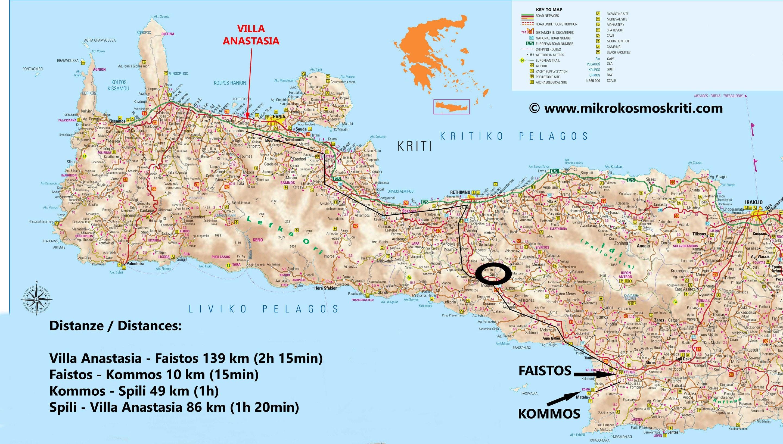 Cartina Geografica Isola Di Creta.Mappa Festo Microcosmo Creta