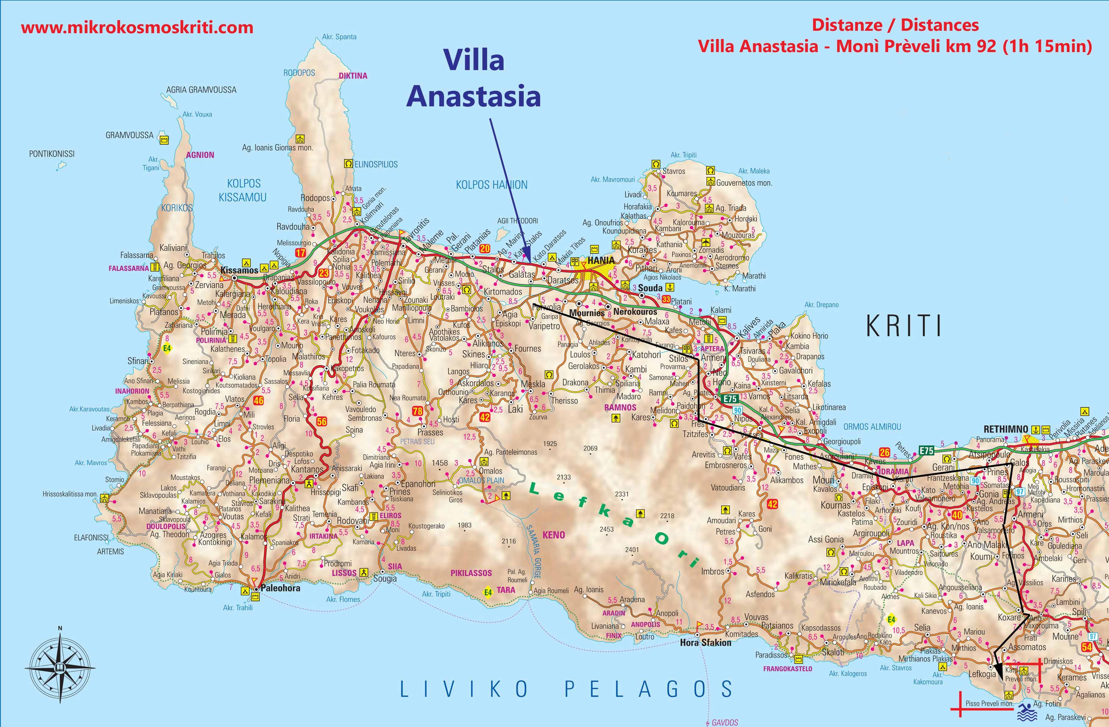mappa moni preveli