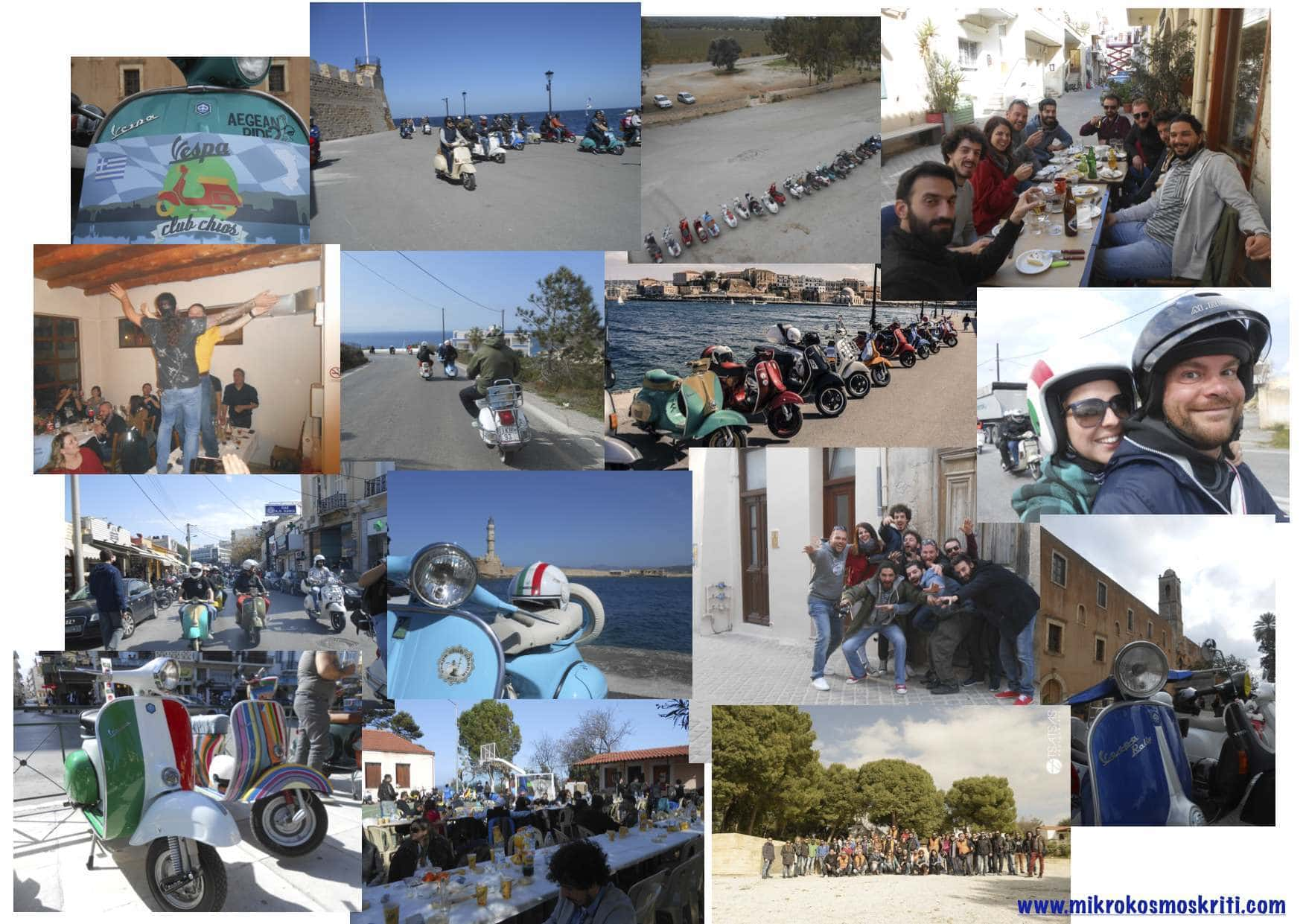Collage Vespa Raduno Chania